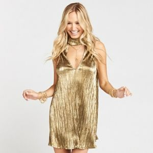 Show Me Your Mumu Friday Gold Choker Dress